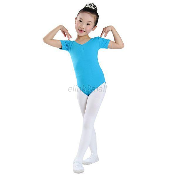 4-11Y Kids Girl Ballet Dance Gymnastics Leotards Dancewear ...