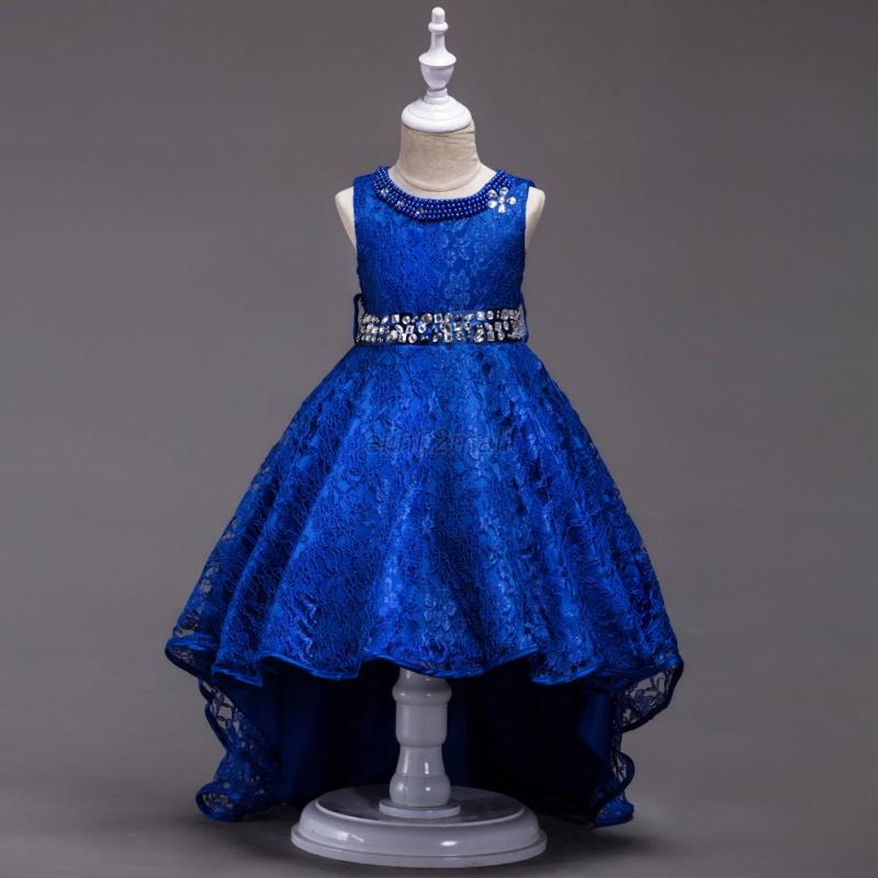 Baby-Girls-Kids-Pageant-Princess-Bow-Party-Evening-Tutu-Wedding-Formal-Dress-New