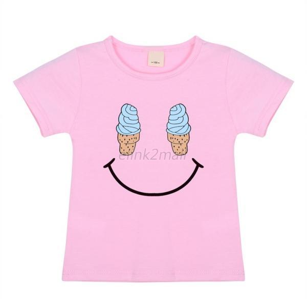 2 7y Kids Baby Toddler Short Sleeve Crewneck T Shirt Smile