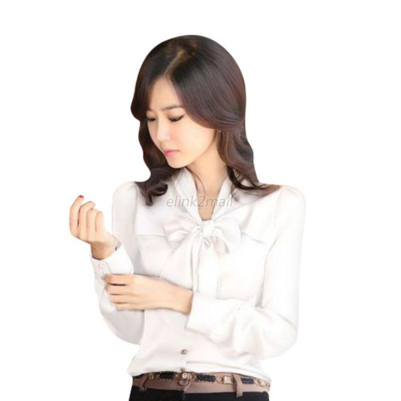 Women'S Long Sleeve Career Blouses 11