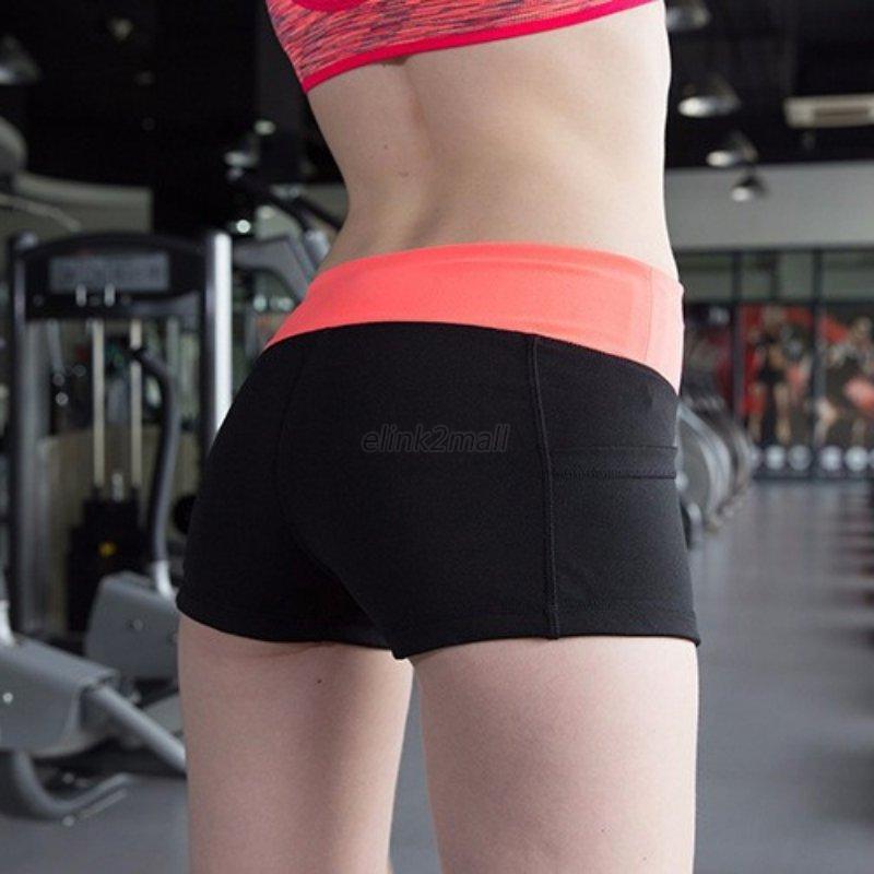 Women Gym Pants Sports Shorts Gym Workout Waistband Skinny