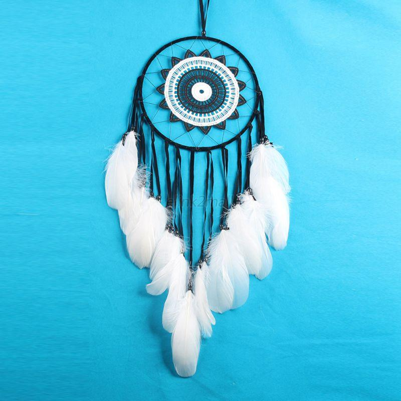 Long-Handmade-Lace-Dream-Catcher-Feathers-Home-Wall-Hanging-Decor-Ornament-Decor