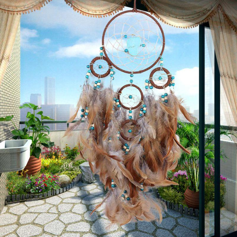 Long-Handmade-Feathers-Dream-Catcher-Wall-Hanging-Room-Decoration-Ornament-Decor