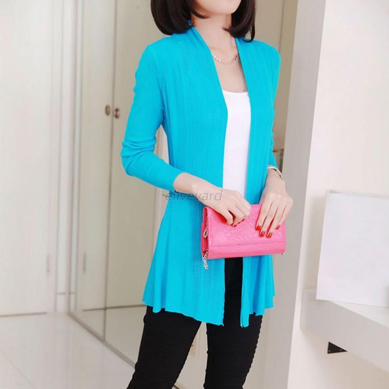AU-Women-Loose-Long-Sleeve-Knitted-Cardigan-Ladies-Casual-Outwear-Jackets-Coat