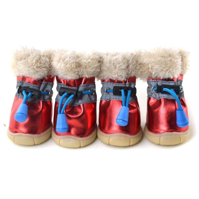 Dogs Winter Boots Waterproof Anti-Slip Pet Puppy Shoes