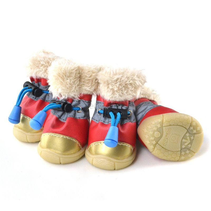 Dogs Winter Boots Waterproof Anti-Slip Pet Puppy Shoes