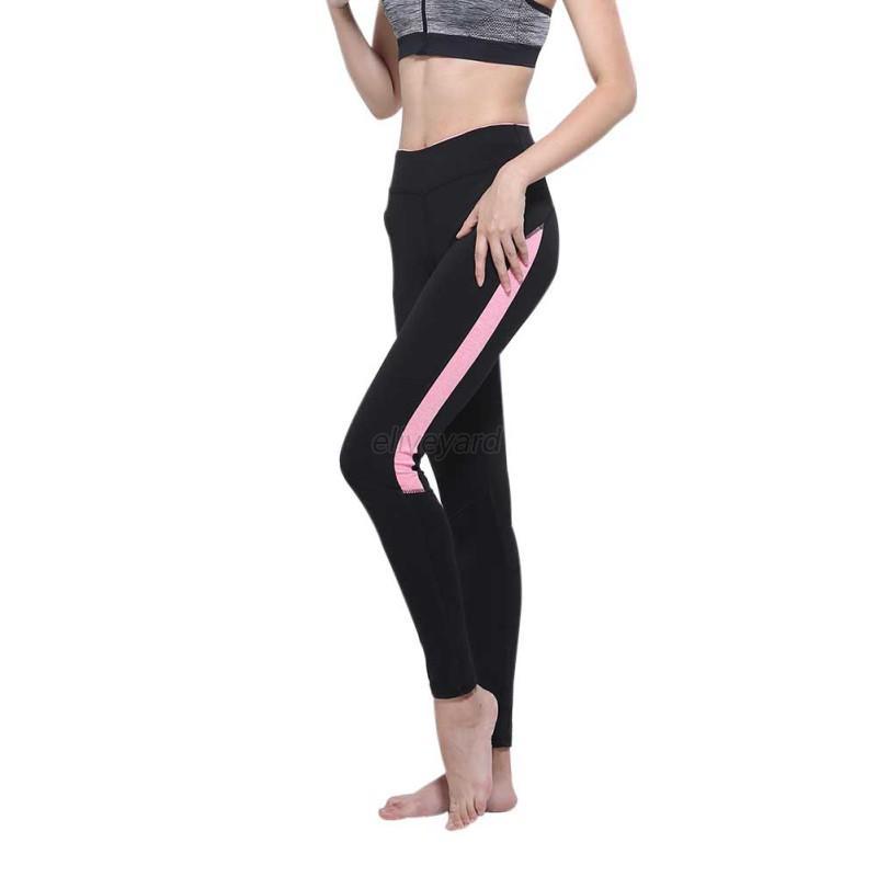 Women High Waist Yoga Fitness Leggings Running Gym Stretch