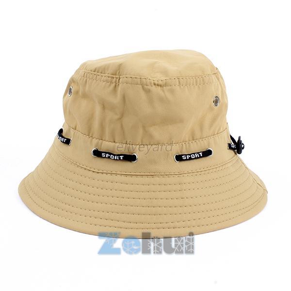 Fashion unisex fishing bucket canvas boonie hat sun visor for Fishing boonie hat