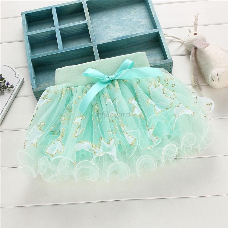 Kids Girls Dancewear Tutu Ballet Pettiskirt Princess Party Floral Bowknot Skirt