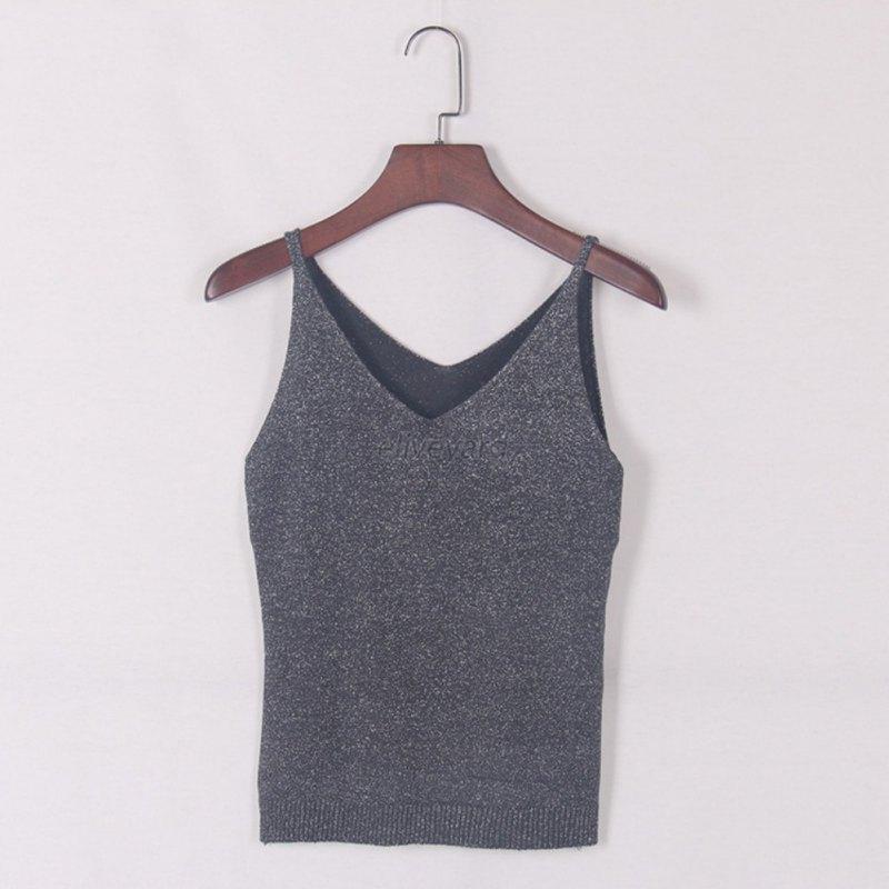 Free Knitting Pattern Ladies V Neck Vest : Sexy Women Fashion Knitting Vest Top Sleeveless V-Neck ...
