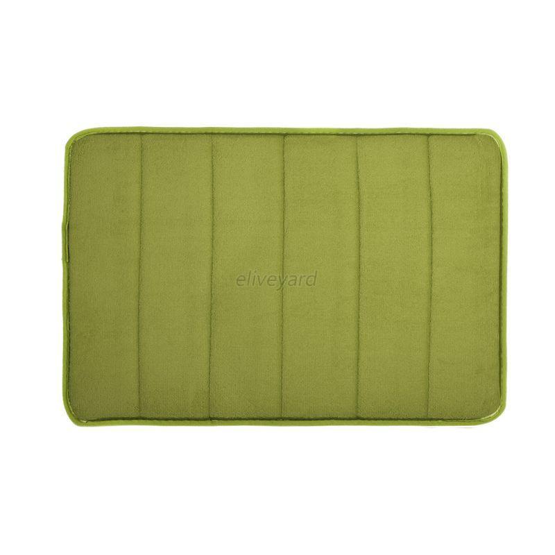60x40cm Memory Foam Non Slip Floor Mats Bath Shower Carpet Bathroom Bedroom Rug