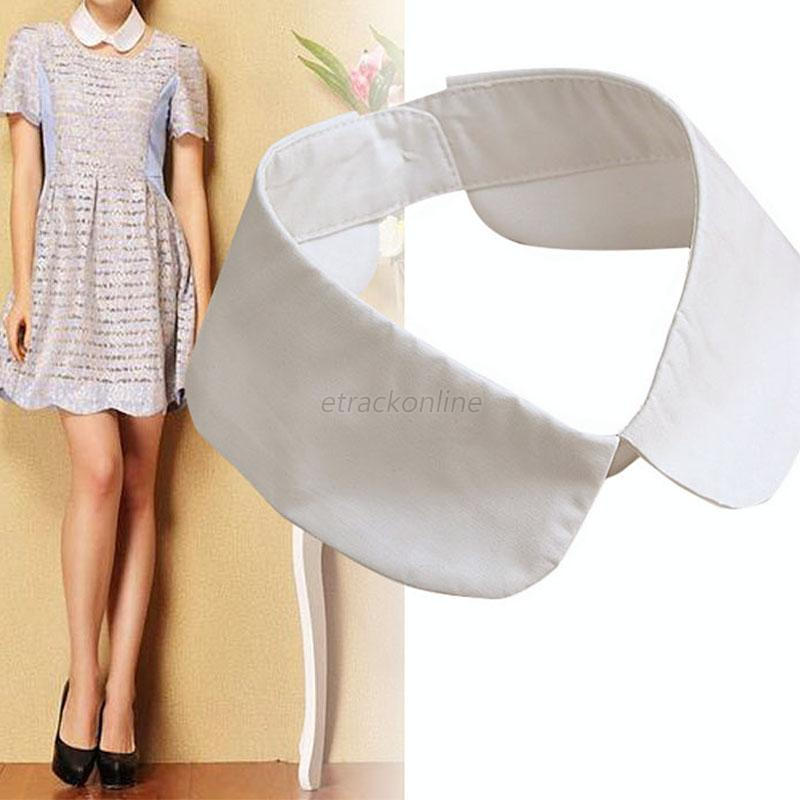 Fashion Detachable Peter Pan Women Lapel Shirt Fake False Collar Choker Necklace