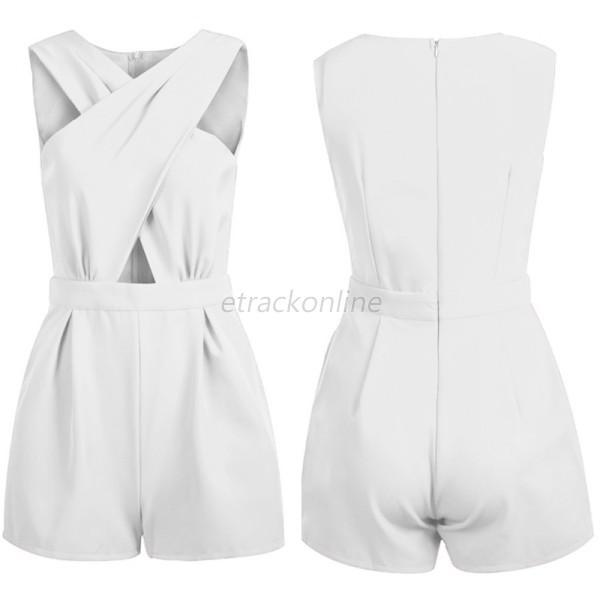 Women Ladies Clubwear V Neck Playsuit Bodycon Party Jumpsuit ...