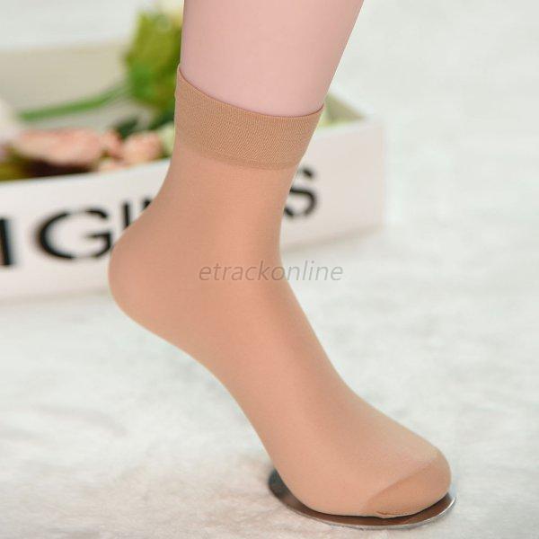 10-Pairs-Women-Short-Ankle-Sheer-Stockings-Nylon-Elastic-Silk-Socks-6Colors