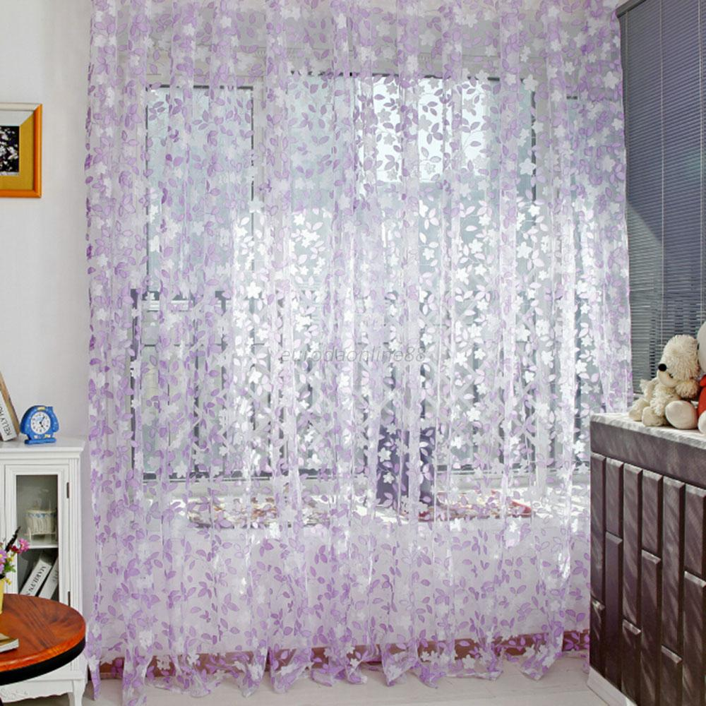 Sheer curtains with patterns - Multi Color Assorted Sheer Curtains Window Room Divider