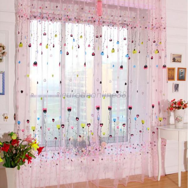 Colorful Room Door Divider Panel Drapes Valance Assorted
