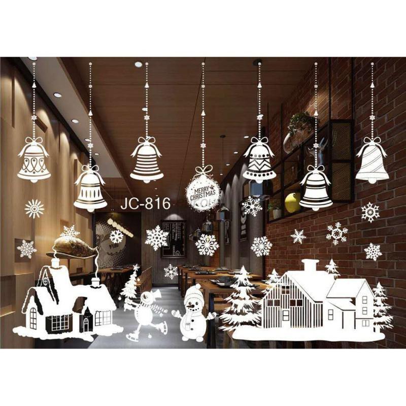 Christmas snowflake frozen decals window wall stickers vinyl