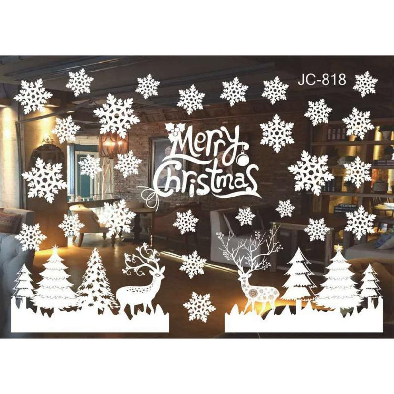 Christmas snowflake frozen decals window wall stickers for Raamstickers kerst