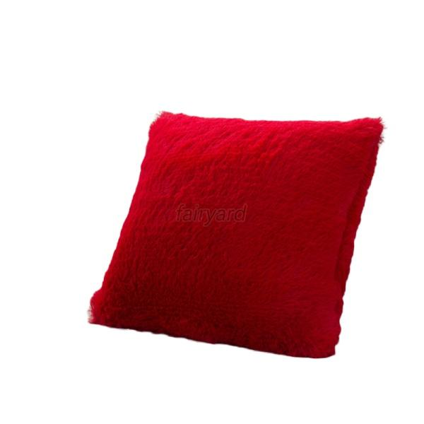 Trendy Soft Warm Cushion Cover Long Plush Throw Pillow Case Bed Sofa Home Decor eBay
