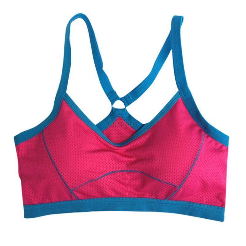 Womens Sports Bras Running Yoga Pants Dance Gym Tank Tops: Women Soft Workout Sports Bra Seamless Stretch Gym Fitness