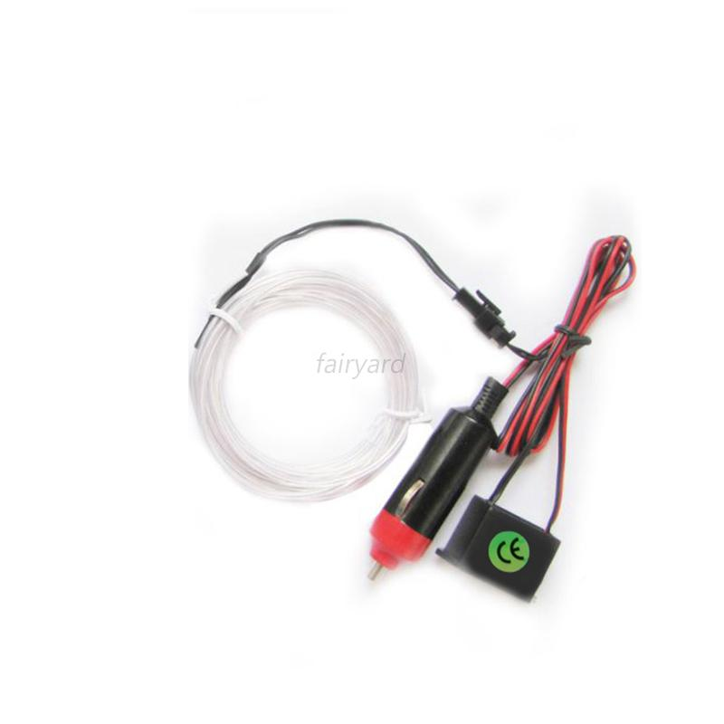1/3/5M Led Flexible EL Wire Neon Glow Light 12V Controller Party ...