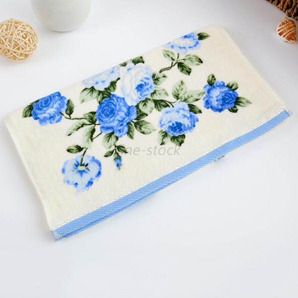Soft Cotton Face Hand Bathing Sheet Floral Shower Towel Cloth Plain Soft Travel Ebay