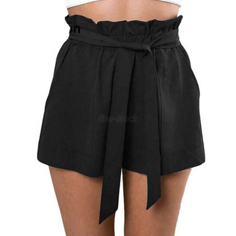 Summer Women Girls Bowknot Pants Fashion Shorts Elastic High Waist ...