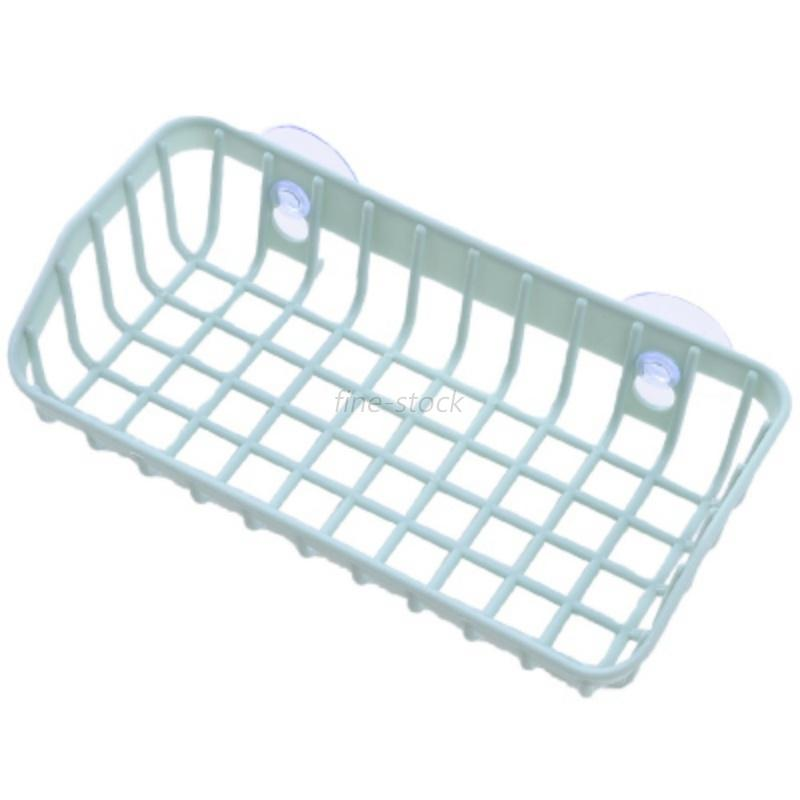 Kitchen sink soap sponge drainer drying rack washing organizer holder basket new ebay - Kitchen sink drying rack ...