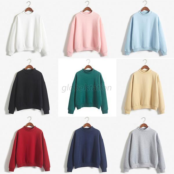 Women Lady Long Sleeve Hoodie Sweatshirt Hooded Pullover Coat Casual Tops Blouse