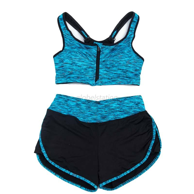 Athletic Womens Workout Tracksuit Fitness Gym Yoga Sports