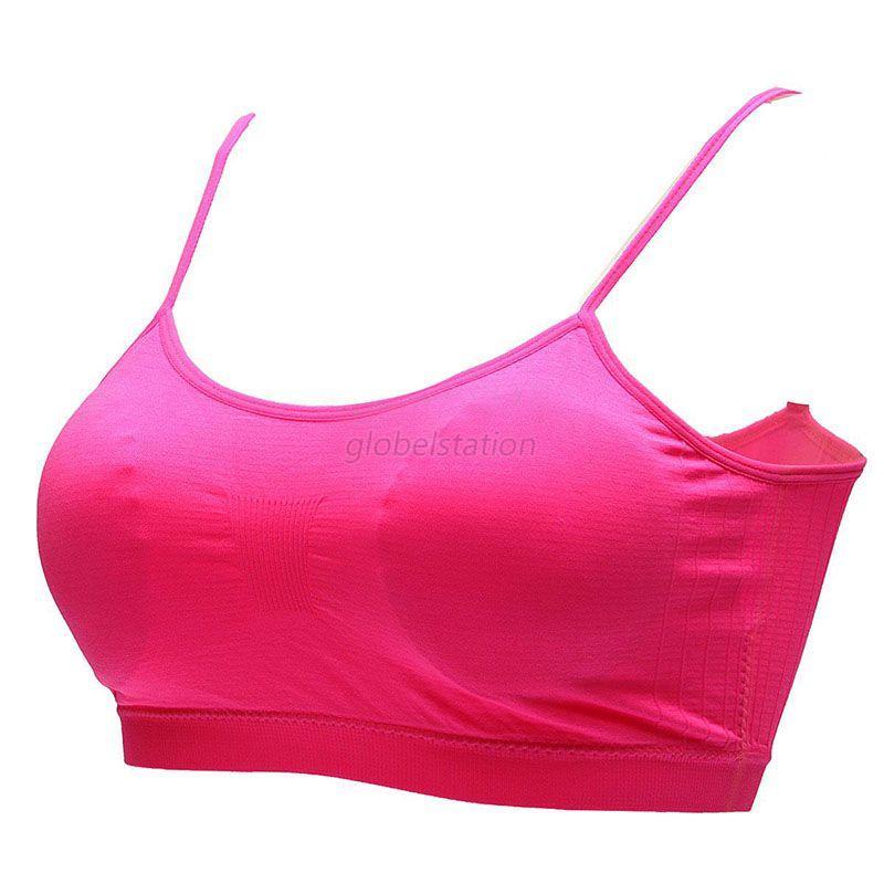 Womens Sports Bras Running Yoga Pants Dance Gym Tank Tops: Womens Stretch Padded Yoga Sports Running Bra Gym Crop