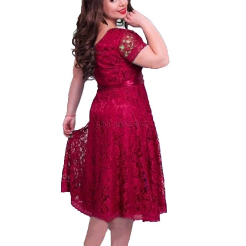 Trendy-Women-Lace-Floral-Fomal-Evening-Dress-Cocktail-Party-Long-Dress-Plus-Size