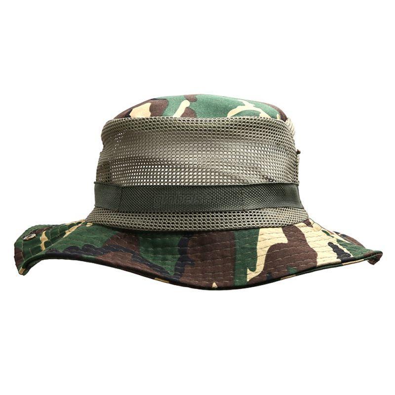 Bucket hat boonie hunting outdoor wide brim camo sun men for Wide brim fishing hat