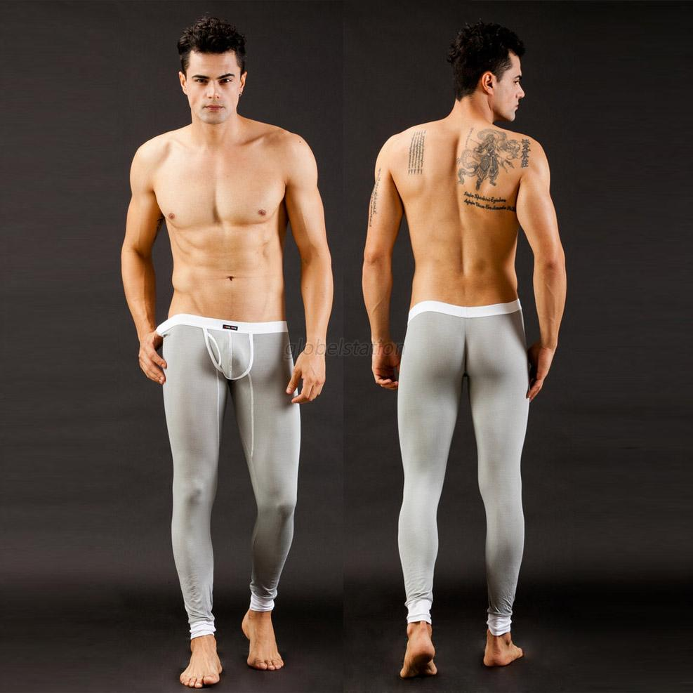 winter warm men sexy skinny modal underwear thermal pants. Black Bedroom Furniture Sets. Home Design Ideas