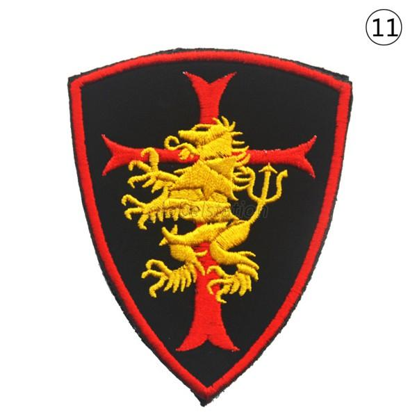 Multi style d military embroidered trim patch morale sew