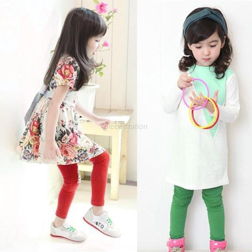 cute baby clothes kid girl cotton tight pants warm stretch