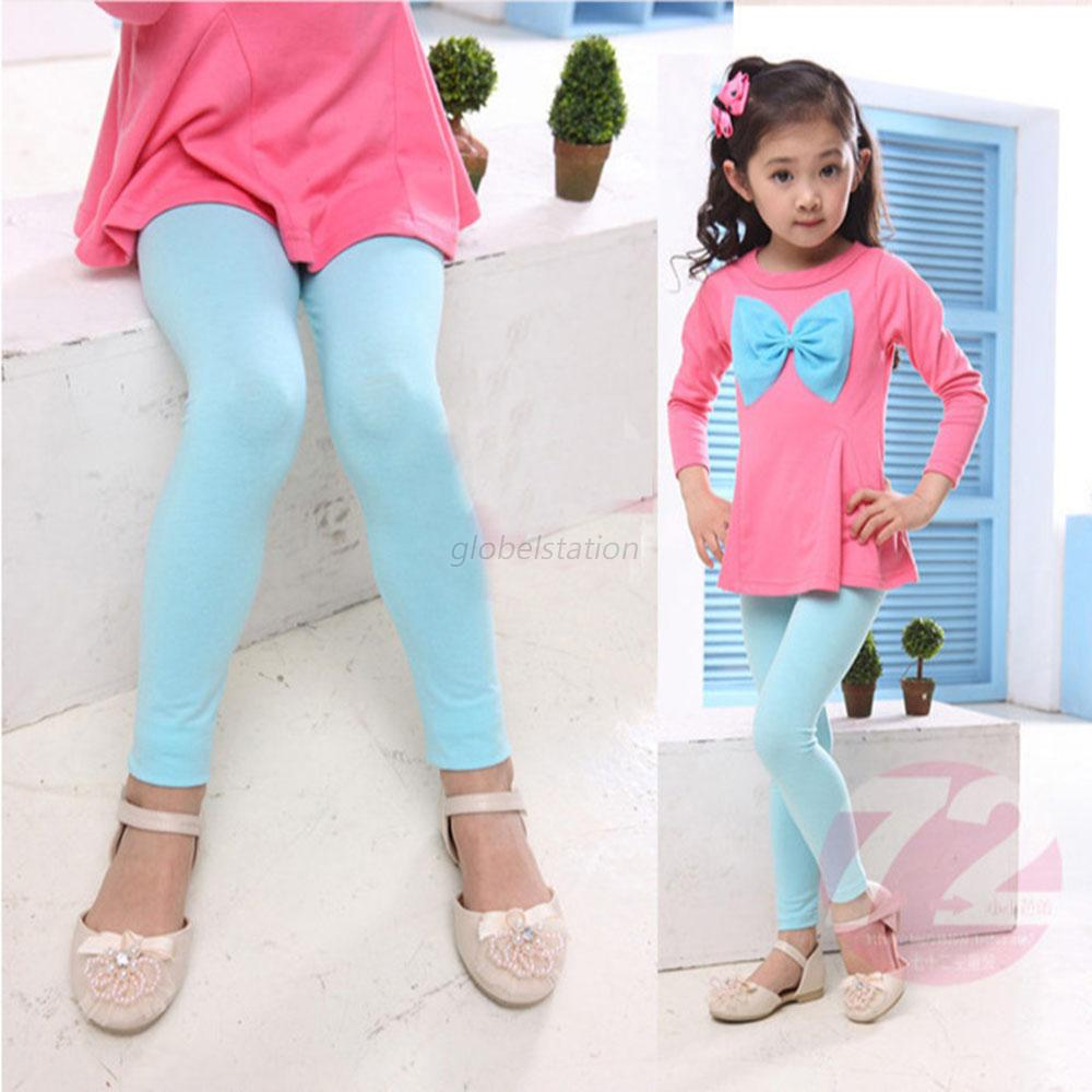 Cute Baby Clothes Kid Girl Cotton Tight Pants Warm Stretch ...
