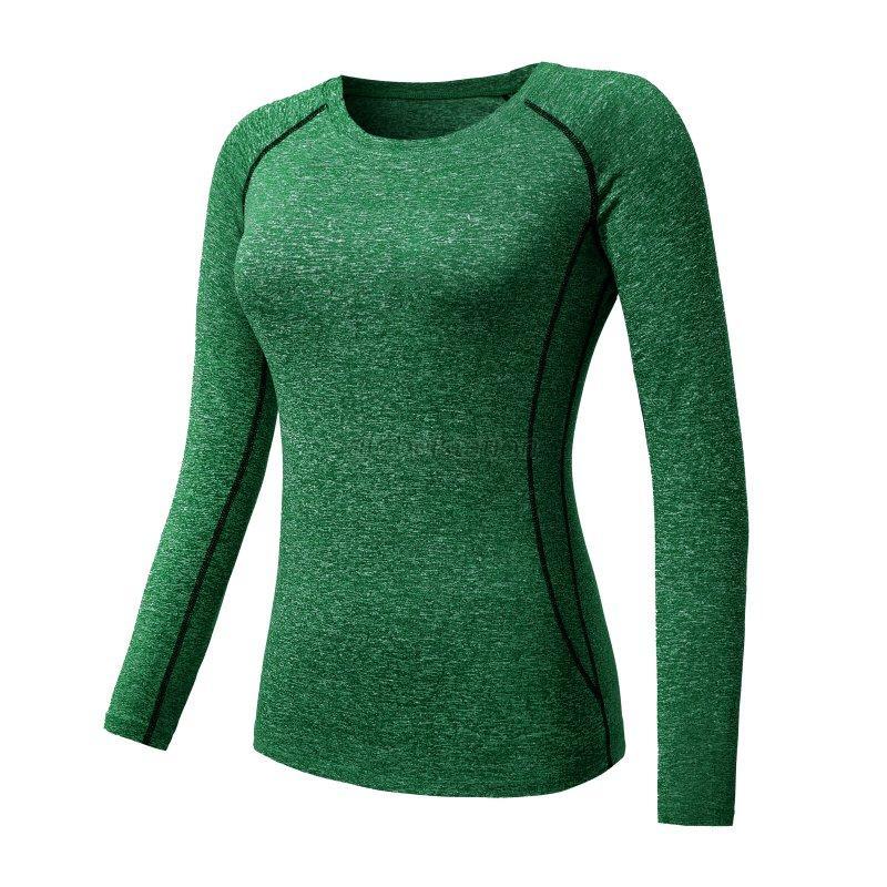 Frauen-Quick-dry-Kompression-Base-Layer-Enge-Tops-T-Shirt-Fitness-YogaTops