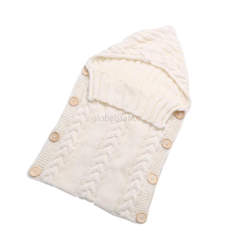 Baby Kids Newborn Knitted Blanket Swaddle Sleeping Bag