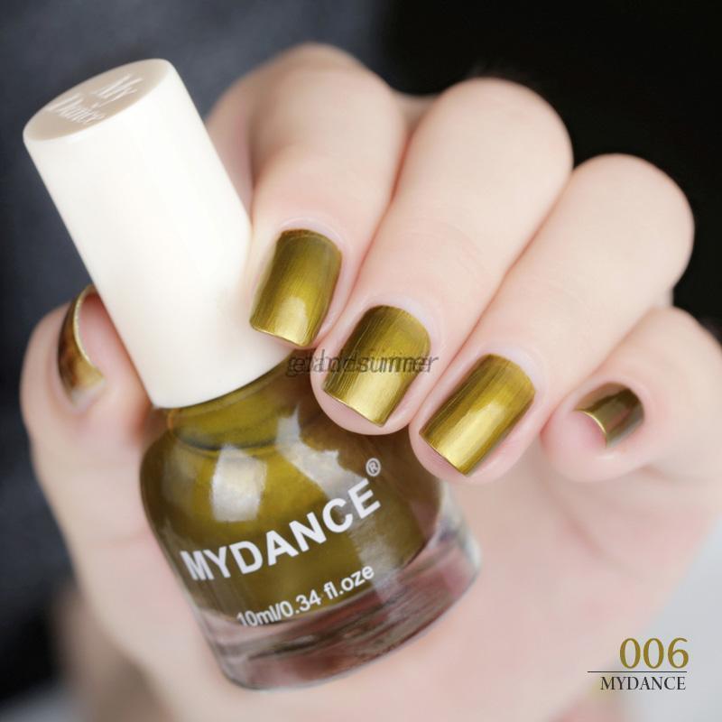MYDANCE Gold Metal Mirror Effect Glitter Nail Polish Nail Art ...