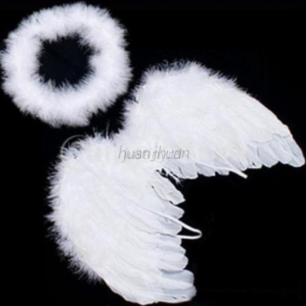 US-Halloween-Feather-Wings-Angel-Fairy-Party-Fancy-Costume-For-Adult-Kid-Baby