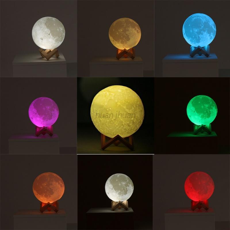 Usb Led Night Light Moonlight Gift 3d Moon Lamp Touch