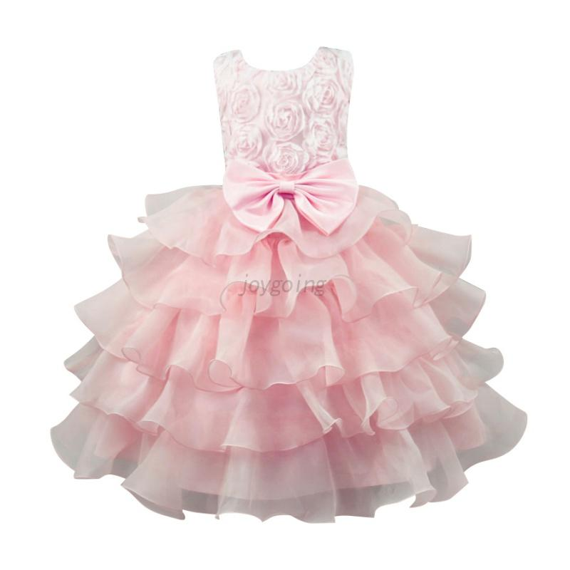 US-Kids-Girls-Flower-Birthday-Wedding-Bridesmaid-Pageant-Graduation-Formal-Dress