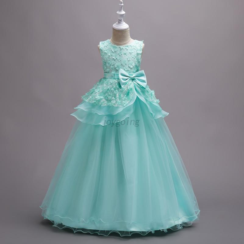 US Kids Girls Princess Dress Wedding Bridesmaid Pageant Formal Party ...