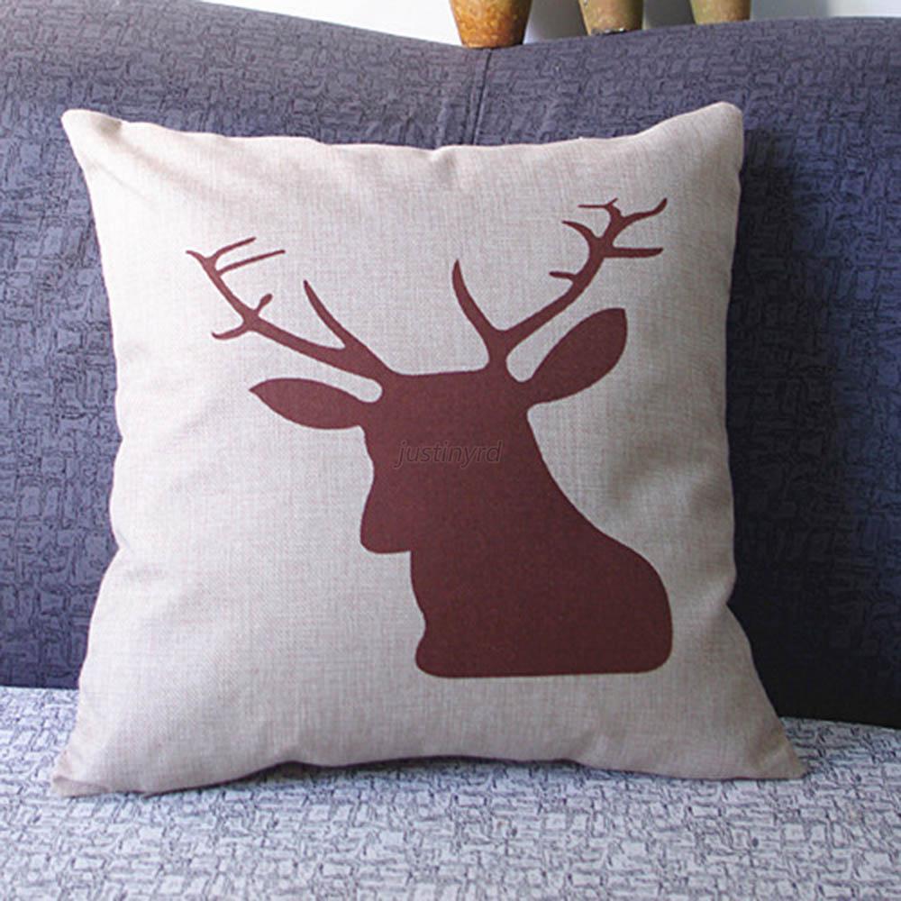 Multi-Styles Cotton Linen Pillow Case Sofa Waist Throw Cushion Cover Home Decor eBay