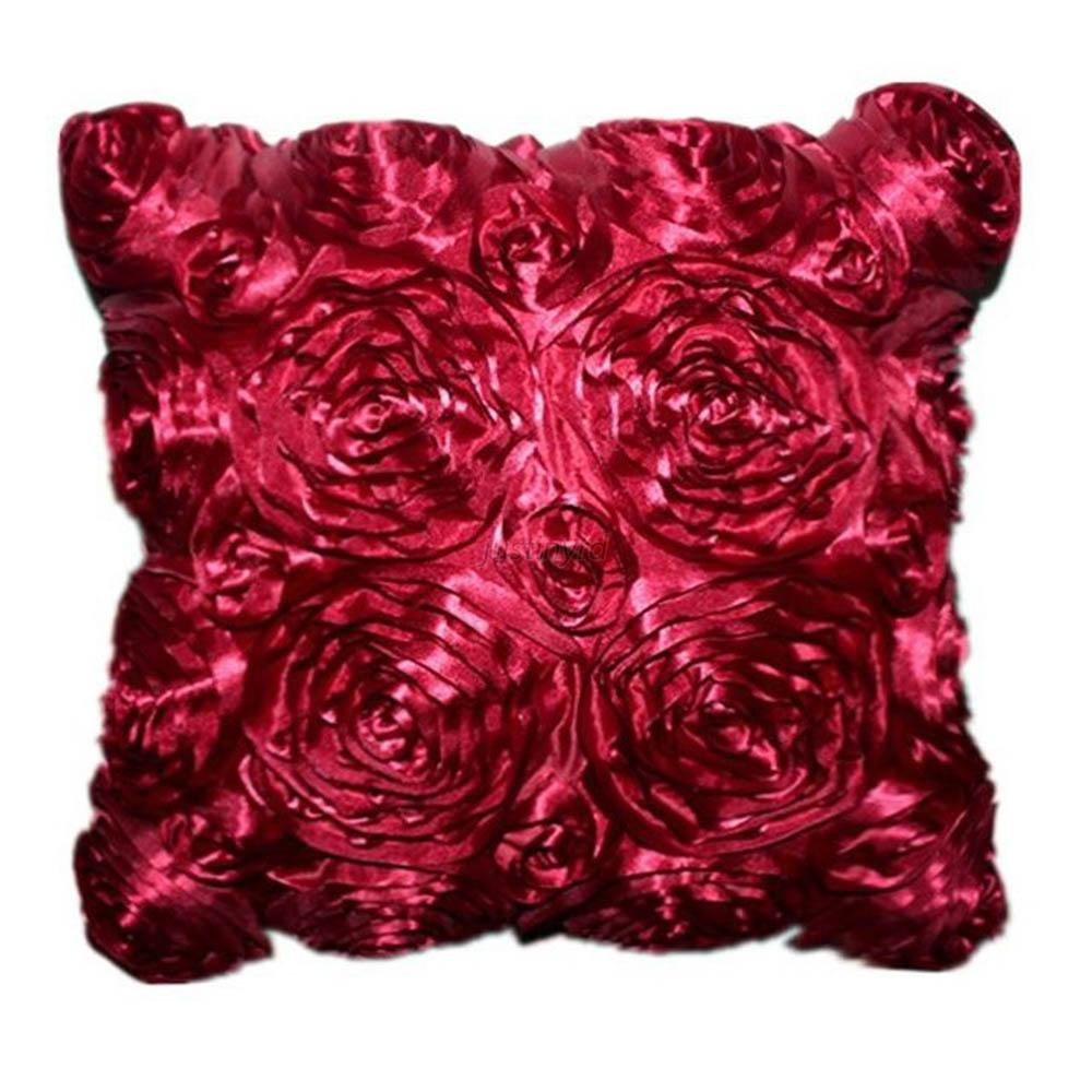 Chic Satin Couch Cushion Cover Home Decor Sofa Throw