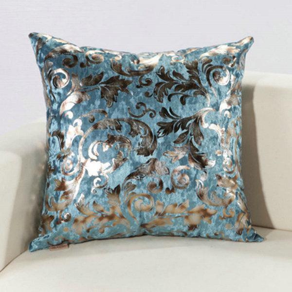retro colorful silver floral cushion throw pillow case