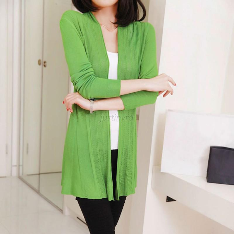 hot cardigans women knit slim open front sweater cardigan lady long