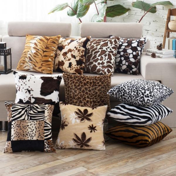 Real Animal Skin Pillows : Stylish Leopard Faux Fur Decorative Sofa Throw Pillow Cover Cushion Case Square eBay