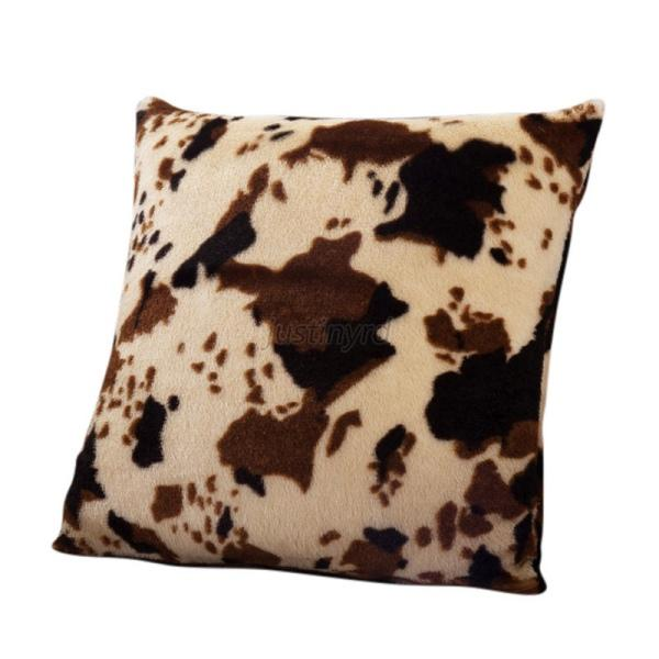 Stylish Leopard Faux Fur Decorative Sofa Throw Pillow Cover Cushion Case Square eBay